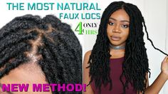 THE MOST NATURAL CROCHET LOCS INSTALL EVER! KNOTLESS METHOD - NO CORNROWS | FAST FAUX LOCS [Video] - https://blackhairinformation.com/video-gallery/natural-crochet-locs-install-ever-knotless-method-no-cornrows-fast-faux-locs-video/