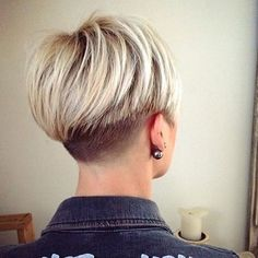 Lovely two toned bob with a short buzzed nape