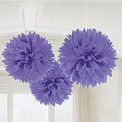 Purple Tissue Poms