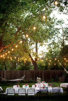 Backyard Party Lighting Looks A Little Bit Like Parenthood Dinner