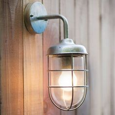 St Ives Harbour Outdoor Wall Light - Galvanised