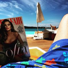 1st of May 2015 #dimitrisgoestonikkibeach reading all about Sofia Vergara in Vanity Fair