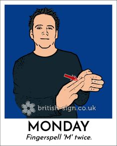 Sign of the Day - British Sign Language - Learn BSL Online British Sign Language Alphabet, English Sign Language, Sign Language Basics, Sign Language Phrases, Sign Language Interpreter, Learn Sign Language, American Sign Language, Spanish Language Learning, Teaching Spanish
