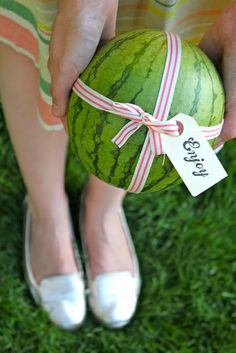 mini watermelon - hostess gift for a summer party