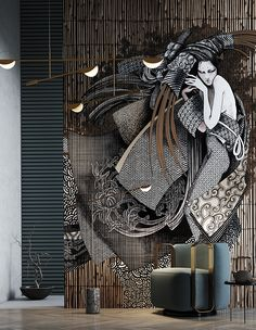 Interior Design And Graphic Design, Wall Design, Home Interior Design, Interior Decorating, House Design, Wall Cladding Designs, Cabinet Medical, Tile Layout, Bathroom Design Luxury