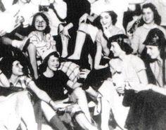 Sylvia Plath (third from left, front row) at a party for first year students, Smith College, 1951 Rainer Maria Rilke, Sylvia Plath, John Keats, Emily Dickinson, Anais Nin, Ernest Hemingway, Scott Fitzgerald, Intj, Drake