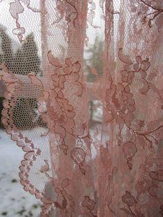 Vintage Barkcloth Cotton Fabric Rose Floral Antique