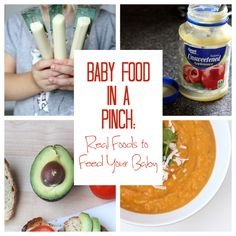 Good ideas for when you're at a restaurant or a friend's house with no baby food.