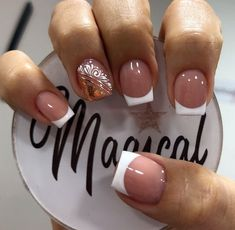Nail Spa, Nail Manicure, French Manicure Nail Designs, Beauty, Natural, Makeup, Instagram, Enamels, Gel Nail
