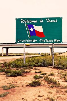 Route 66 Welcome to Texas roadside sign