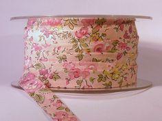 Liberty Fabric Tana Lawn Bias Binding Tape Tatum L pink The Weavers Mill