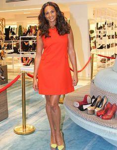 how to wear a shift dress   : Alesha Dixon's Arnotts Shoe Department Unveiling Orange Shift Dress ...