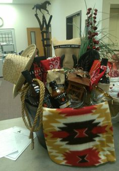Western Theme Auction Basket