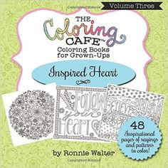 Coloring Cafe Heart Coloring Book Giveaway