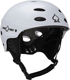 """ProTec Ace Wake Helmet Gloss Red Size XS  High Density Injection Molded ABS Shell Dual Density Waterproof EVA Liner  15 Open Vents for Ventilation and Drainage 3 Shell Sizes for 6 different Helmet Sizes  Full Surround Interior Protection """"Head Lock"""" adjustable rear fit system  Removable cupping ear guards with water channels CE EN 1385 Water Sport Safety Standard"""