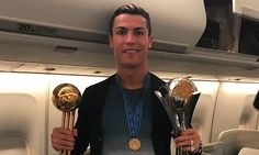 Ronaldo celebrates on plane back to Madrid with Club World Cup trophy -     Cristiano Ronaldo capped off a dream year by scoring a hat-trick in the Club World Cup final to and take his haul of trophies to five in 2016.    ... See more at https://www.icetrend.com/ronaldo-celebrates-on-plane-back-to-madrid-with-club-world-cup-trophy/