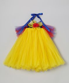 Take a look at this Yellow Princess Tutu Dress - Infant, Toddler & Girls on zulily today!