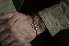 Trident Bracelet Men Trident Charm Bracelet Sterling Silver | Etsy Bracelet Men, Bracelets For Men, Link Bracelets, Best Groomsmen Gifts, Groomsman Gifts, Mens Gold Jewelry, Unique Jewelry, Gifts For Sailors, Christmas Gifts For Men
