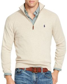Polo Ralph Lauren Half-Zip Pima Sweater