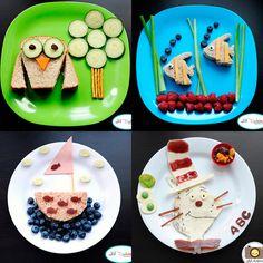 Ideas divertidas para los peques, ¡comida creativa! #inspiración
