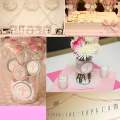Baptism Decor, Cake, Favors, and Centerpiece