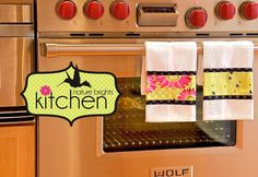 bright and pretty kitchen towels