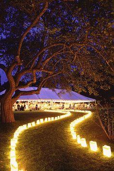 para eventos nocturnos: marcar el camino con luz