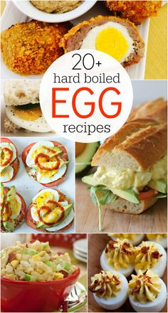 20+ hard boiled egg recipe ideas! Use up those leftover Easter eggs! Great recipes!