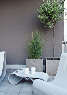 Stil Inspiration - Page 88 of 198 - Concrete Furniture, Modern Outdoor Furniture, Garden Furniture, Furniture Ideas, Patio Pergola, Backyard, Outdoor Spaces, Outdoor Living, Outdoor Decor