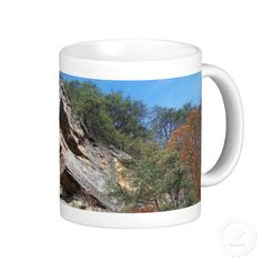A Nice Rustic Cliff and Trees Mug