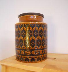 Retro Vintage Hornsea Heirloom Biscuit Barrel  by WittyDawnUK