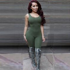 Ladies Women Bodysuit Rompers Womens Jumpsuit  American Apparel Sleeveless Bangdage Sexy Backless Full Length Bodycon Jumpsuits