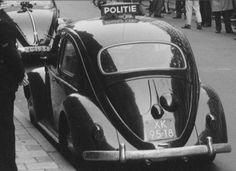 VW kever. Surveillance voertuig in de jaren '50.