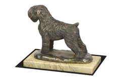 Made of cold cast bronze. Black Russian Terrier, Terrier Dogs, Terriers, White Marble, Lion Sculpture, It Cast, Bronze, Cold, Statue