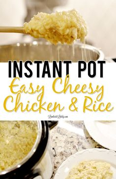 This Instant Pot Cheesy Chicken & Rice uses ingredients like cream soup and cheese to make a simple, crowd-pleasing weeknight dinner that even kids love! This recipe can be prepped in an electric pressure cooker in just minutes. Easy Chicken And Rice, Chicken Rice, Instant Pot Chicken And Rice Recipe, Cheesy Chicken Recipes, Instapot Recipes Chicken, Cheesey Chicken, Frozen Chicken Recipes, Ranch Chicken, Recipe Chicken
