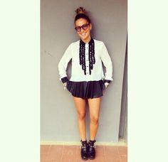 Shorts e camicia con rouches - Instagram @fashionimperial – hashtag #imperialpeople