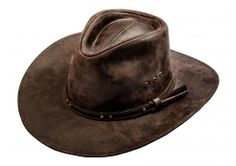 cd6fa615e30ae Leather Cowboy Hat - dark brown Cowboy Outfit For Men