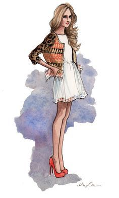 fashion drawing gown - Google Search