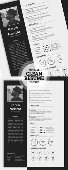 Resume Template for Word | Printable CV for Word | High Impact CV + ...