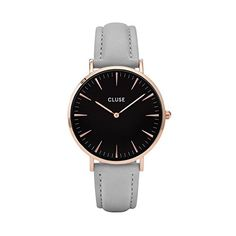 Cluse-Damen-Armbanduhr-Analog-Quarz-Leder-CL18018
