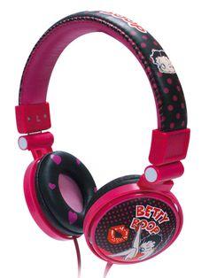 AUDIFONO DJ BETTY BOOP   Audífono tipo DJ oval para cualquier aparato reproductor de música. #bettyboop  #audifonos #dj #music #musica #mix #mixes #ginga #cya #tecnologia #accesoriosparacelular