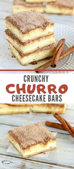 Crunchy Churro Cheesecake Bars   Taste In Your Mind   #Dessert #Keto #LowCarb #Paleo #Snacks #Vegan