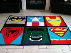 Crochet Super Hero Blanket (SC graph, pieced together and border)