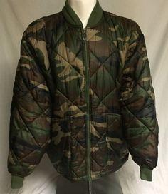 Raw Blue Camoflauge XXXL Quilted Coat 3XL Hunting Jacket #RawBlue #HuntingCoat