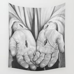 Buy Jesus Hands Wall Tapestry by hidbdesigns. Worldwide shipping available at Society6.com. Just one of millions of high quality products available.