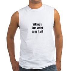 Vikings- One word says it all Tank Top