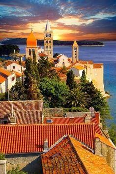 Island of Rab, Croatia. The island in the back is Lokrum island...I've been there!