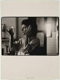 Carol JERREMS, (Carol Jerrems, self-portrait with hand mirror) 1976. Australian Photographer