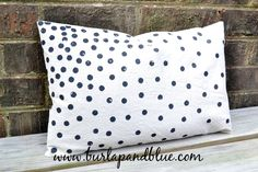 diy spotty pillows