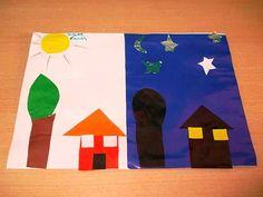 Space Activities, Activities For Kids, Preschool Arts And Crafts, Crafts For Kids, First Grade Art, Slumber Parties, Day For Night, Science Art, Pre School